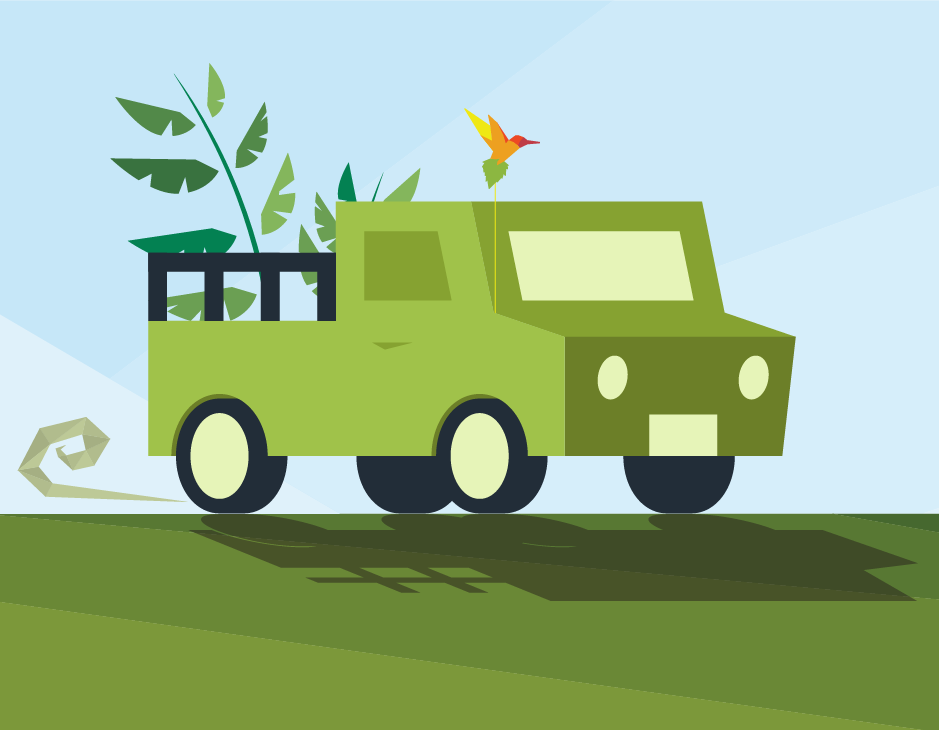 Humming Hemp Illustration Closeup Truck