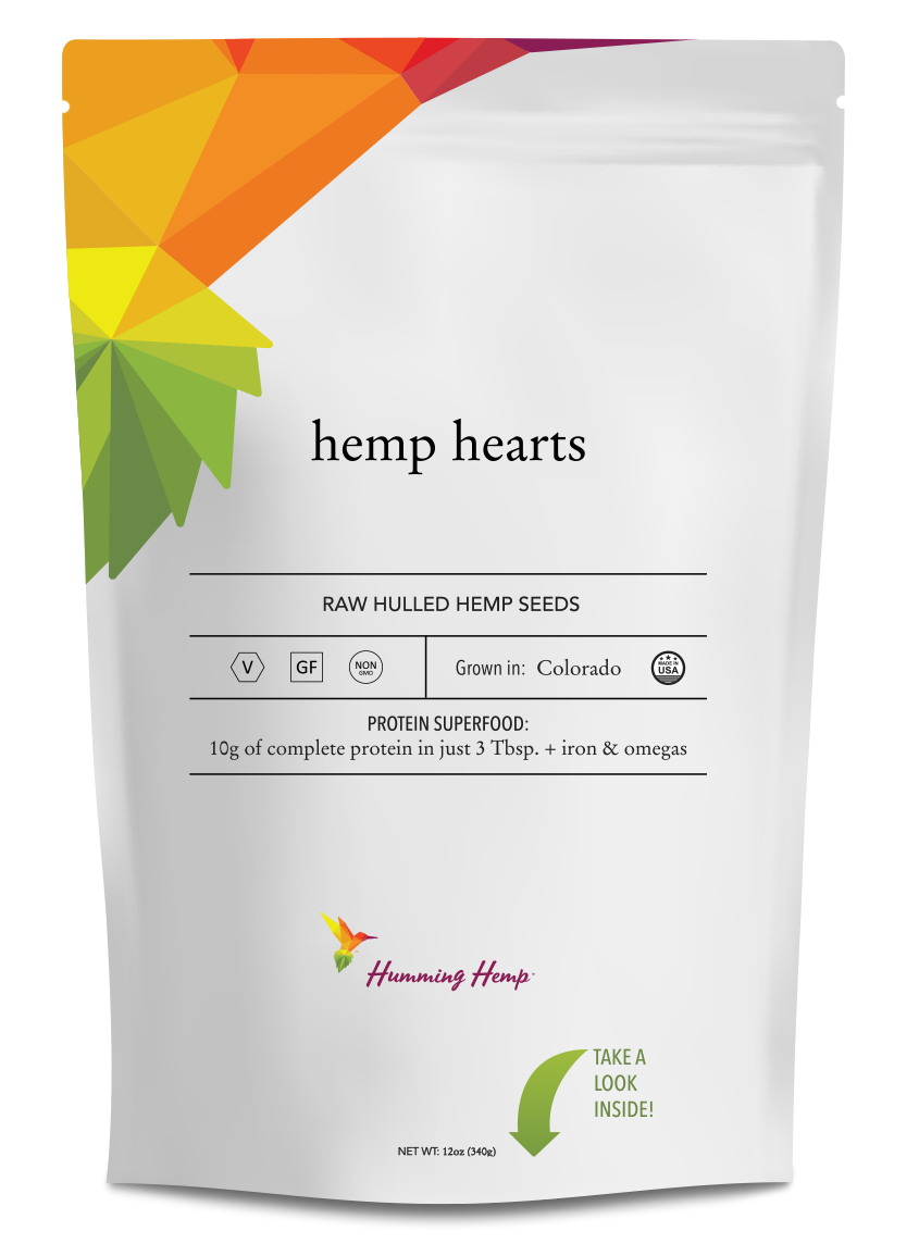 Humming Hemp Hemp Hearts Packaging