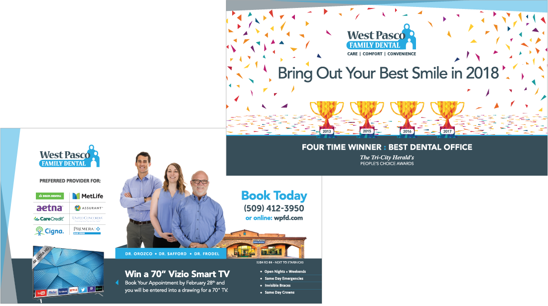 West Pasco Family Dental Mailers